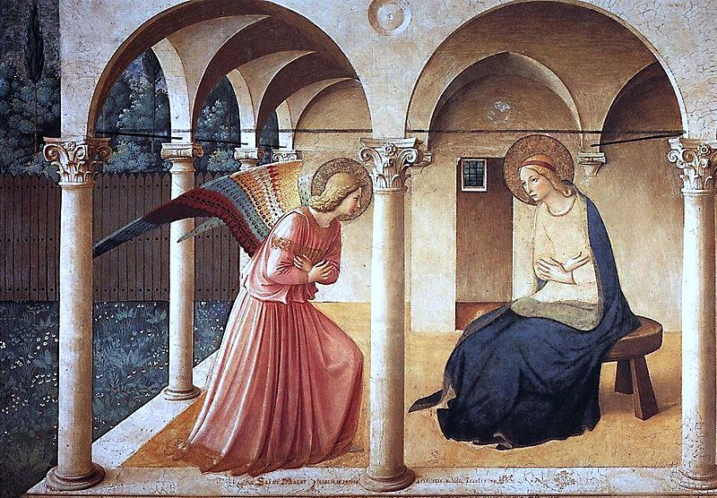 Fra' Angelico, Annunciation (1440-50), San Marco Convent