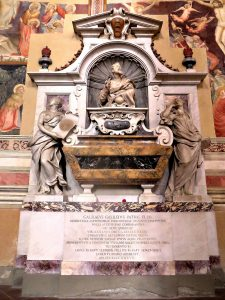 Galileo Galilei's tomb in Santa Croce Church