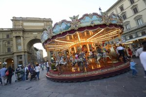 Repubblica square and its merry-go-round