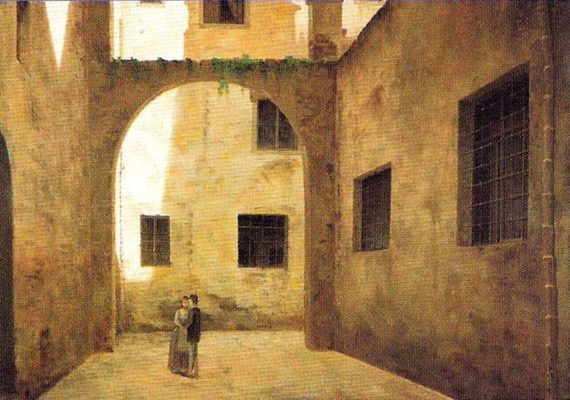 Fabio Borbottoni, An arch in the ghetto of Florence